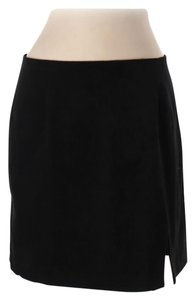 Express Interview Suit Work School Faux Suede Skirt black