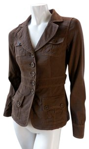 Classiques Entier Lined Military Stretchy Brown Jacket