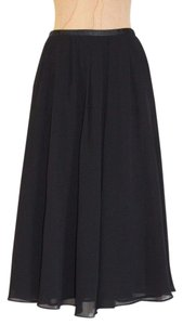 H&M Pleated Flare Skirt BLACK