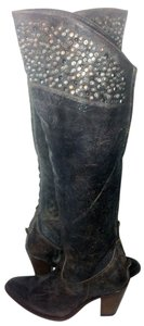 Frye 77100 Demi Studded Size 7 Motorcycle Gray Boots