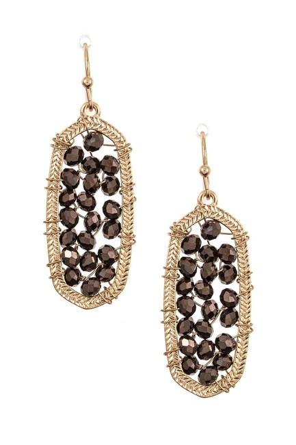 Item - Brown Gold New Without Tags Wired Bead Earrings