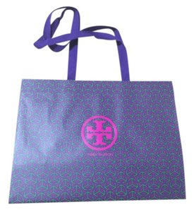 Tory Burch Monogram Tote in Purple and Blue