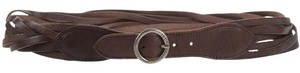 Jeckerson New without tag JECKERSON belt made in Italy vera pelle dark brown 34'