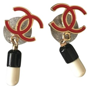 Chanel Rare Collectible Pill Earrings