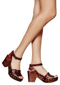 Free People Reese Brown Mules