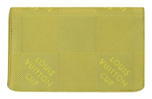 Louis Vuitton Louis Vuitton Lime Green Damier Canvas Cups Wallet