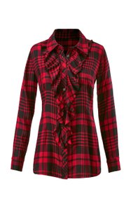 CAbi Lodgeshirt Plaid Button Down Shirt