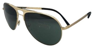 Versace New VERSACE Sunglasses VE 2164 1002/71 60-15 Gold Frames w/ Grey-Green