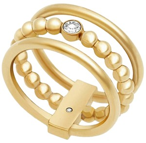 Michael Kors Michael Kors Gold-Tone Beaded Stack Ring