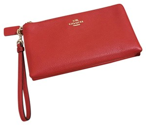Coach Wristlet in Red Orange