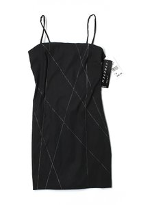 Byer Too short dress Black with Silver Shift Stretchy Sexy Spandex on Tradesy