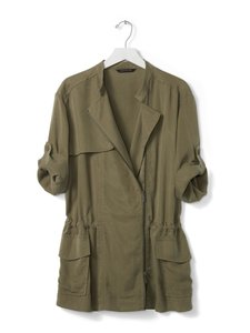 Banana Republic Military Anorak Drapey Army Jacket