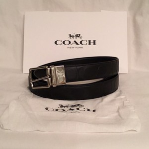 Coach NEW! MEN'S Reversible Cut To Size Embossed C Logo Leather
