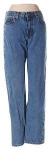Calvin Klein Junior Medium Wash Denim Straight Leg Jeans-Medium Wash