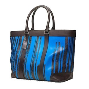 Coach Tote in Cobalt/ Mahogany