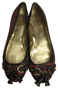 Tommy Hilfiger Navy/Red patterned fabric Flats