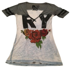 Rebel Yell T Shirt Gray and Light Blue