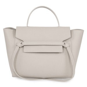 Cline Celine Belt Tote in Light Grey