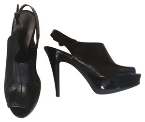 Nine West Peep Toe Black Platforms