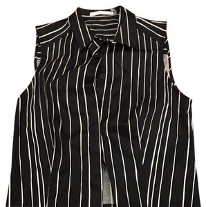 Alice + Olivia Top Black and white