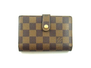 Louis Vuitton Monogram Canvas Leather Vienesse Clutch Snap Wallet