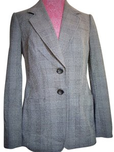 The Limited Black & Gray Plaid Blazer