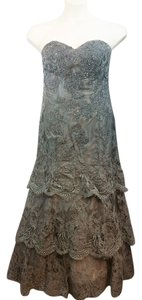 Montage Gray Lace Gown Dress