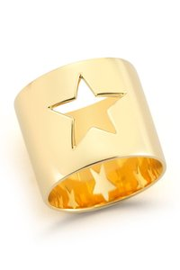 Elizabeth and James 23K Gold Star Cutout Band Polaris Ring
