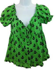 Nanette Lepore Green Cotton Top