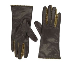 Portolano ~ Leather and Suede Gloves ~ 100% Cashmere Lined ~ Size 7.5 ~ NWT