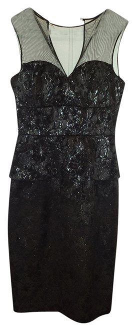 Maggy London Peplum Shimmer Dress