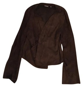 Tahari Brown Leather Jacket