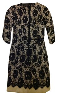 MILLY short dress Black and creme Lace on Tradesy