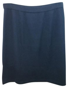 St. John Navy Pencil Knit Skirt