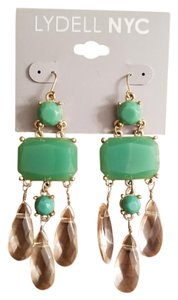 Lydell NYC Jeweled and Crystal Chandelier Earrings