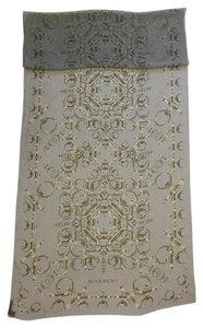 Givenchy SILK SCARF - LONG - LIGHT GREY WITH OBSEDIA HARDWARE