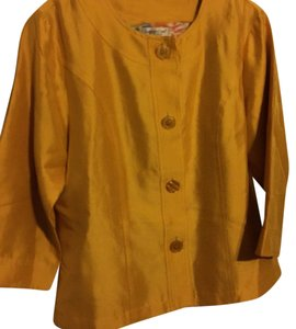Coldwater Creek Yellow silk Jacket