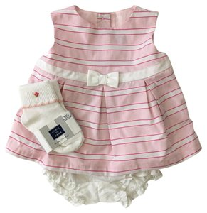 Janie and Jack Top PINK/ WHITE