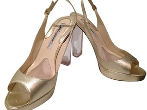 Brian Atwood Silver Pump Clear Gold Pumps