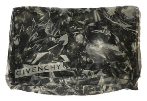 Givenchy SILK SCARF - LONG - BLACK AND WHITE DIAMONDS