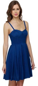 BB Dakota short dress BLUE Bodice Bb Maida on Tradesy