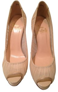 Christian Louboutin Lace Stiletto Designer Tan Pumps