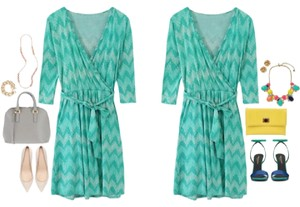 Pixley short dress Teal Sundress Summer Stitch Fix Wrap Tie on Tradesy
