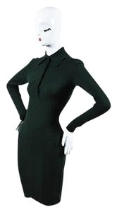 ALAÏA short dress Green Vintage Alaia Dark Wool Blend Knit Ls Collared on Tradesy