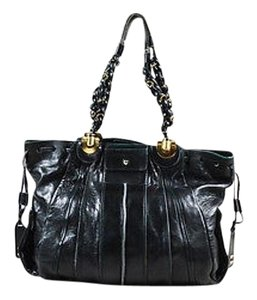 Chloé Chloe Leather Ghw Braided Straps Large Heloise Tote in Black