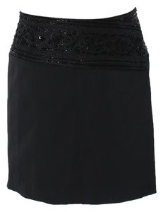 Express Sequin Embellished Beaded Mini Skirt black
