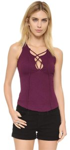 Free People Boho Festival Layering Top Burgundy/Plum