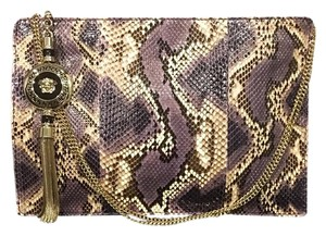 Versace Purple Cream Clutch
