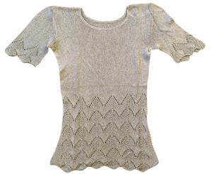 Knit Knit Short Sleeve Top Grey