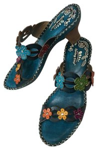 Spring Step Turquoise-multi Sandals
